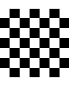 Black and White Checkered Roomba e5 Skin