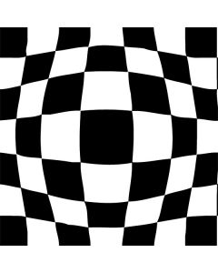 Black and White Zoomed Checkerboard Roomba 880 Skin