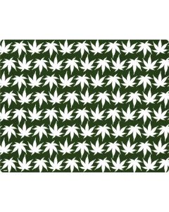 Marijuana Leaf White Pattern Roomba i7+ with Dock Skin