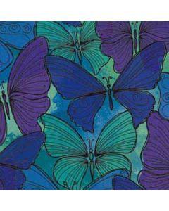 California Watercolor Butterflies Roomba 890 Skin