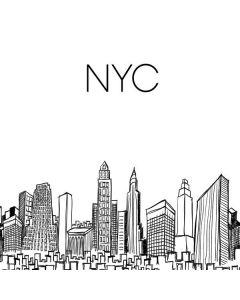 NYC Sketchy Cityscape Roomba 980 Skin