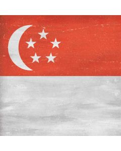 Singapore Flag Distressed Roomba i7+ with Dock Skin