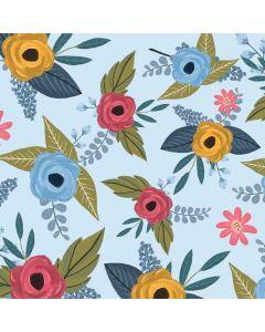 Blue Fall Flowers Roomba 890 Skin