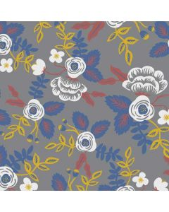 Autumn Grey Floral Roomba 880 Skin