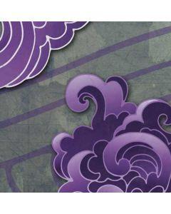 Purple Flourish Roomba i7+ with Dock Skin