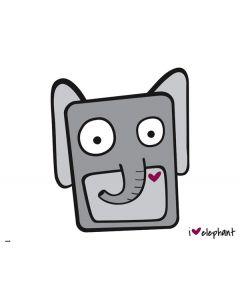 i HEART elephant Roomba i7+ with Dock Skin