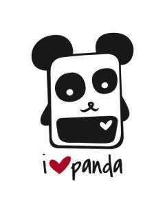 i HEART panda Roomba i7+ with Dock Skin