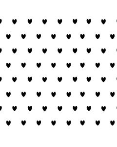 White and Black Hearts Roomba e5 Skin