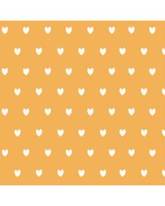 Yellow and White Hearts Roomba e5 Skin
