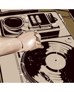 DJ Spinning Roomba e5 Skin