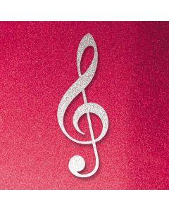 Pink Glitter Music Note Roomba 890 Skin