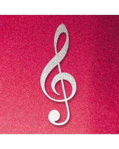 Pink Glitter Music Note Roomba 980 Skin