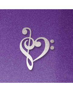 Purple Glitter Musical Heart Roomba i7+ with Dock Skin