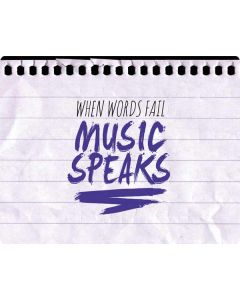 When Words Fail Music Speaks Roomba e5 Skin