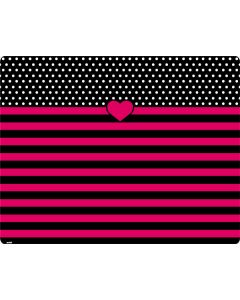 Polka Dots and Stripes Heart in Pink Roomba i7+ with Dock Skin