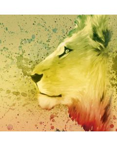 Profile of the Lion of Judah Roomba i7+ with Dock Skin