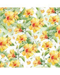 Yellow Hibiscus Roomba i7+ with Dock Skin
