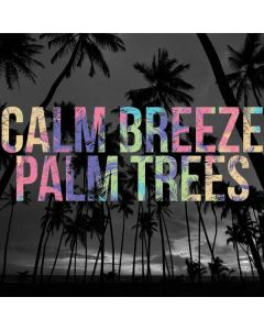 Calm Breeze Palm Trees Roomba i7+ with Dock Skin
