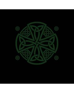 Celtic Cross on Black Roomba 860 Skin