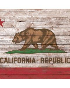 California Flag Dark Wood Roomba i7+ with Dock Skin