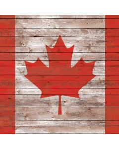 Canadian Flag Dark Wood Roomba i7 Plus Skin