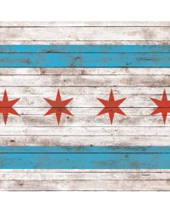 Chicago Flag Dark Wood Roomba i7+ with Dock Skin