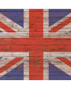 United Kingdom Flag Dark Wood Roomba i7+ with Dock Skin