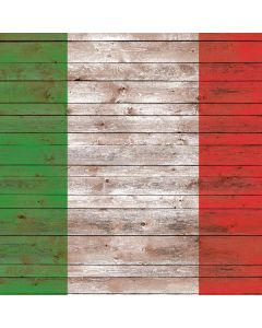 Italian Flag Dark Wood Roomba s9+ with Dock Skin