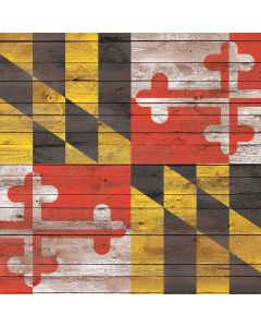 Maryland Flag Dark Wood Roomba i7 Plus Skin