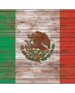 Mexican Flag Dark Wood Roomba i7+ with Dock Skin