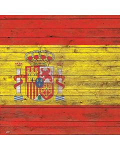 Spain Flag Dark Wood Roomba i7+ with Dock Skin