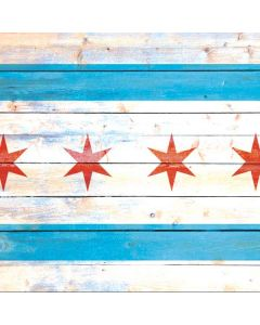 Chicago Flag Light Wood Roomba i7 Plus Skin
