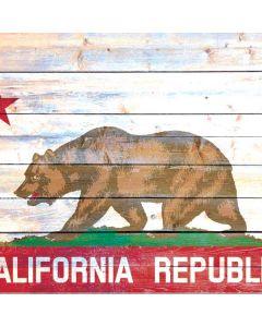 California Flag Light Wood Roomba e5 Skin