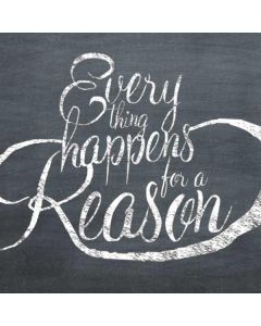 Everything Happens For A Reason Chalk Roomba e5 Skin