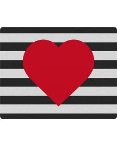 Black And White Striped Heart Roomba 960 Skin