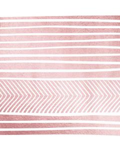 Pink and White Stripes Roomba i7+ with Dock Skin